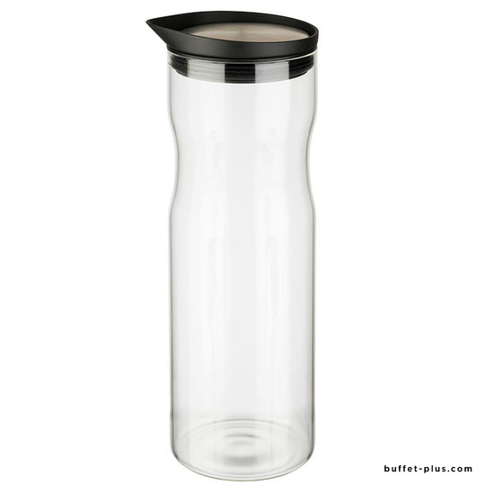 Glass carafe stainless steel lid