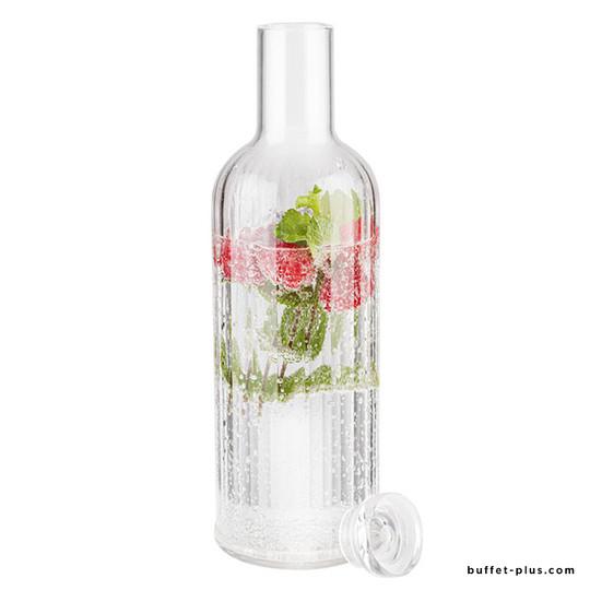 Tansparent bottle Stripes