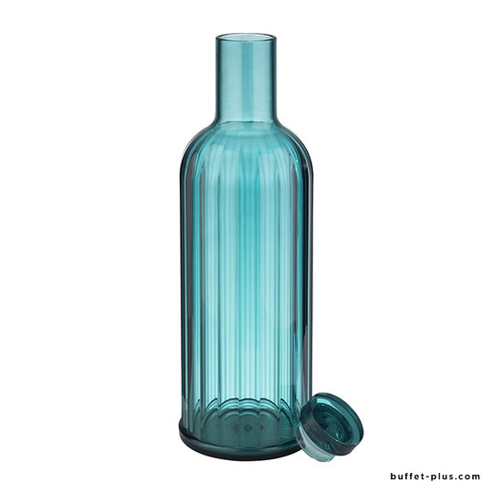 Blue transparent bottle Stripes