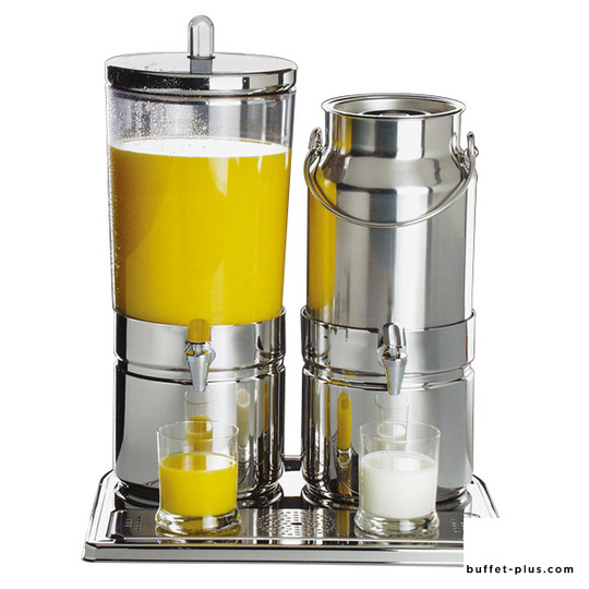 Milk / juice dispenser Stainless steel base Top Fresh collection