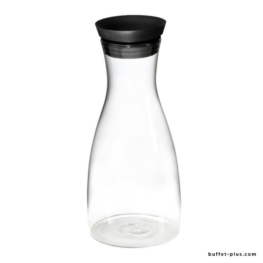 Glass jug with automatic closure cap
