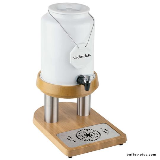 Porcelain milk dispenser acrylic base Top Fresh collection