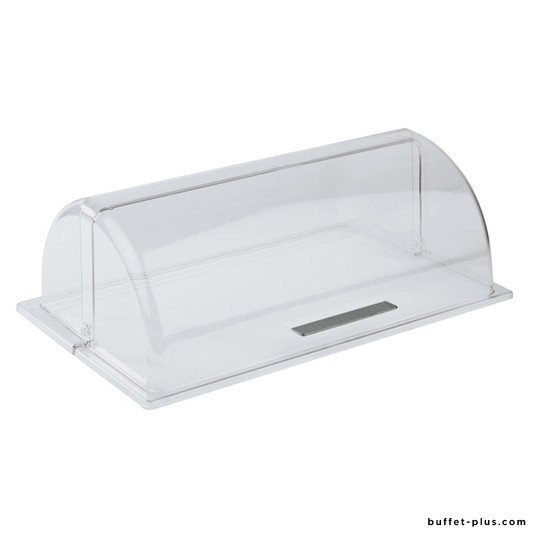 Clear roll top cover GN1/1, chrome plated handle