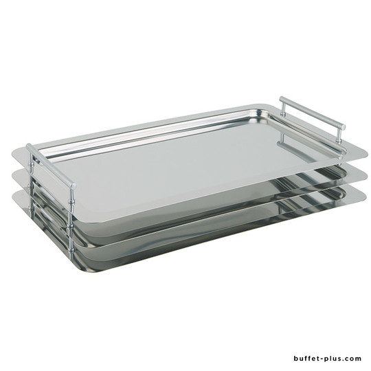 Stainless steel stackable tray GN 1/1 Classic collection