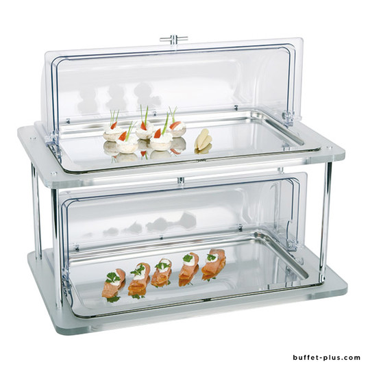 Rectangular cold buffet acrylic 2 levels Doppeldecker collection
