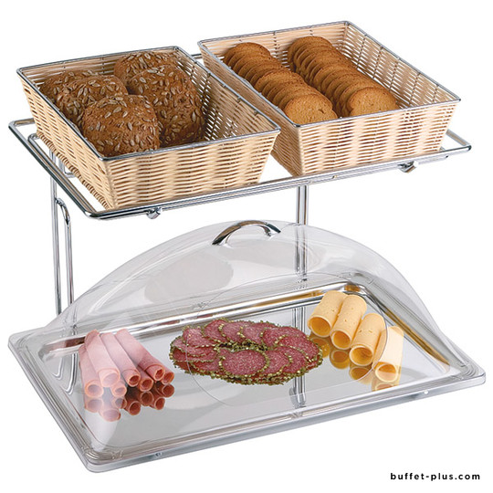 Buffet-frame 2 levels for baskets or dishes GN 1/1 or 1/2