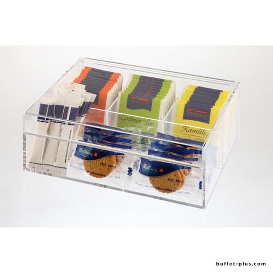 Clear tea box 4 chambers