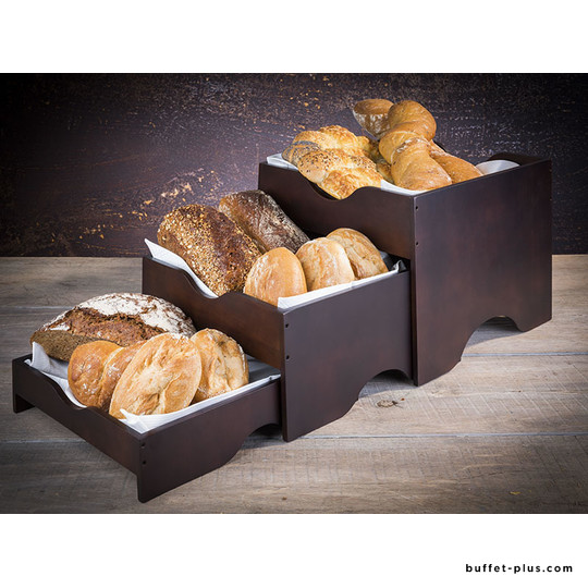 Wood buffet stand, set of 3 pieces
