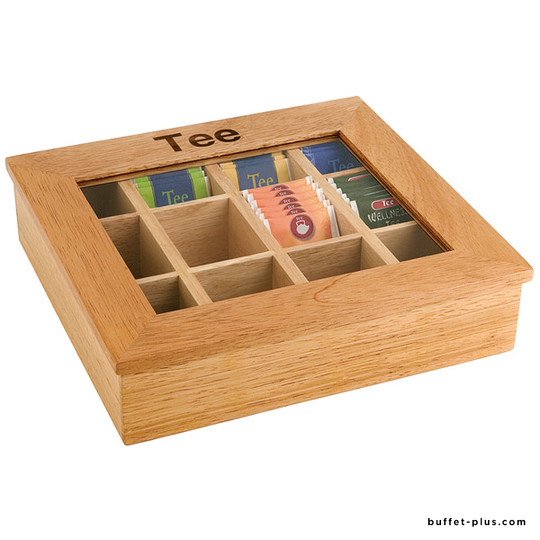 Wood tea box 12 chambers