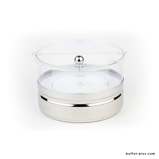 Cooled maxi bowl stainless steel base polycarbonate bowl Top Fresh collection
