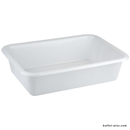 White rectangular container