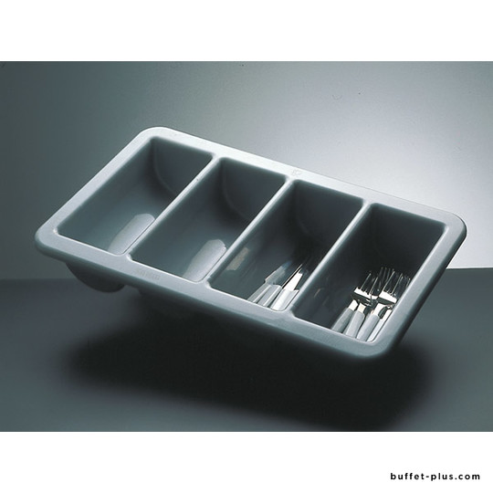 Cutlery box GN 1/1 clear PP, 4 compartments