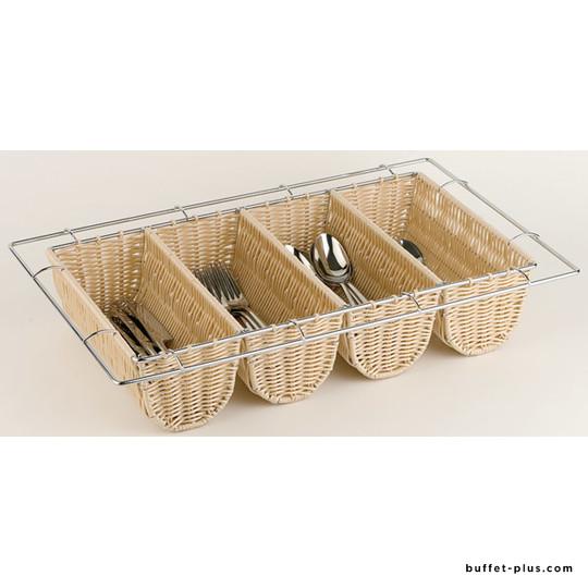 Cutlery basket GN 1/1, beige polypropylene