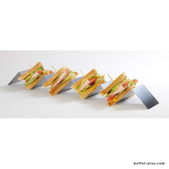 Stainless steel snack presenter zigzag folded