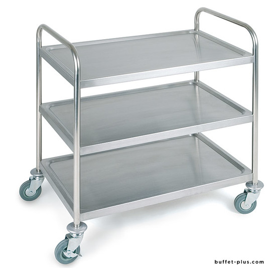 Stainless steel serving trolley 3 levels