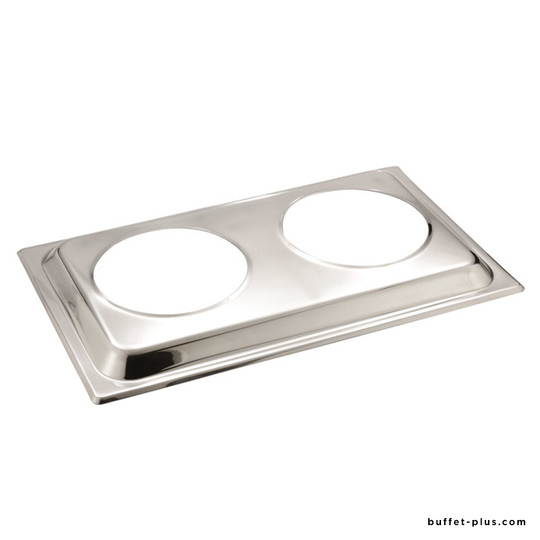 Cover for chafing dish GN 1/1 with two slots