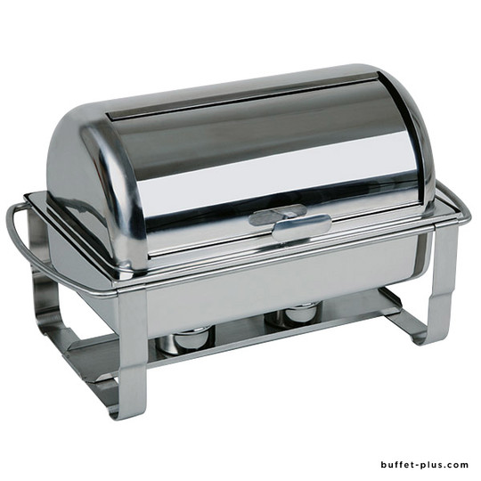 Stainless steel chafing dish GN 1/1 with roll-top cover Caterer collection