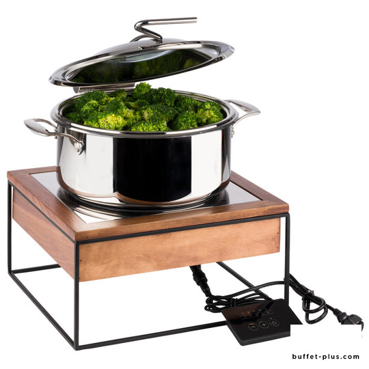Induction hob with buffet stand