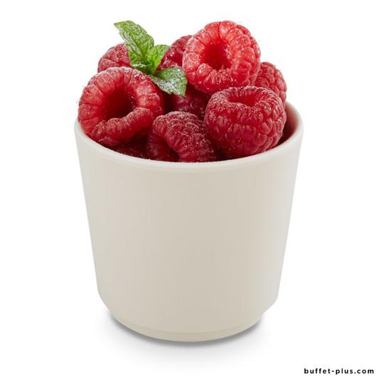 Melamine round bowl / salad bowl maple wood or chocolate outside, white inside