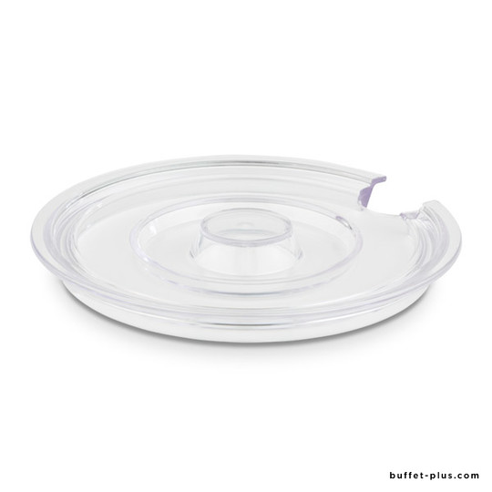 Transparent cover for salad bowl with notched for spoons