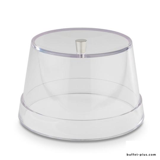 Transparent cover with chromed knob