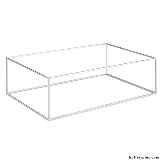 Rectangular chrome plated buffet stand for GN trays Asia + collection