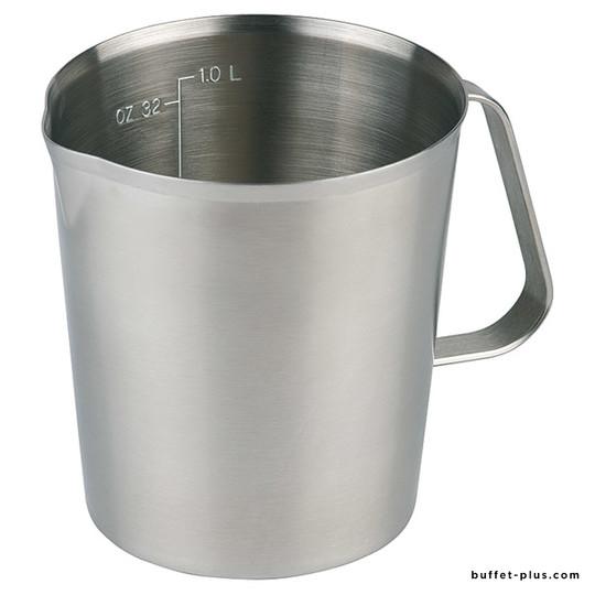 Stainless steel graduated jug