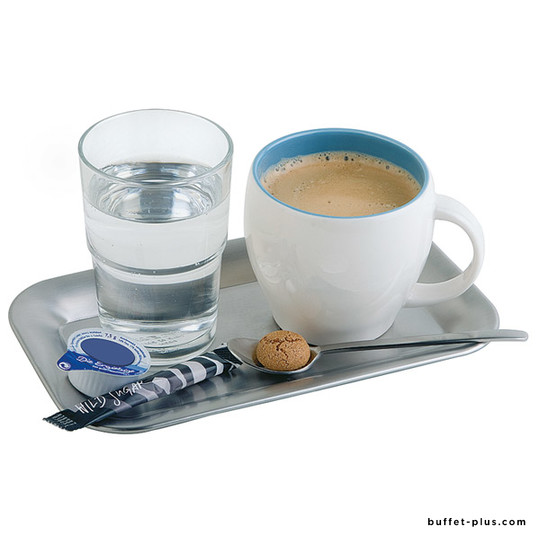 Stainless steel rectangular coffee tray Kaffeehaus collection