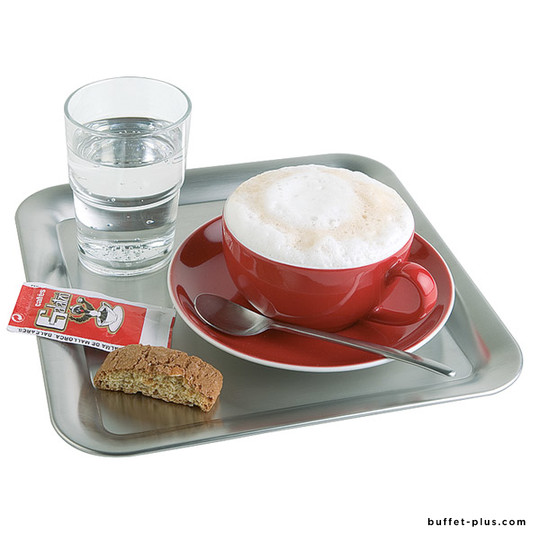 Stainless steel square coffee tray Kaffeehaus collection