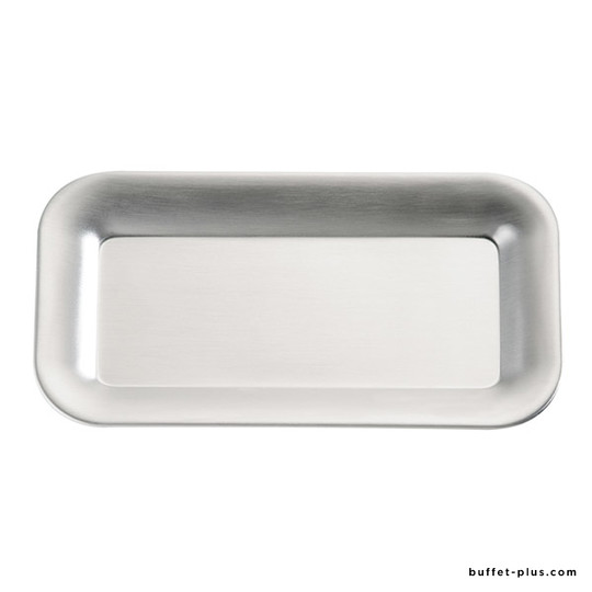 Stainless steel tray for small melamine bowls