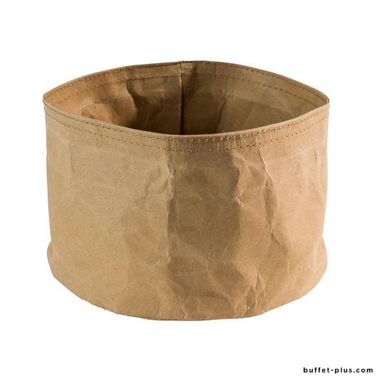 Round bread basket Paperbag beige