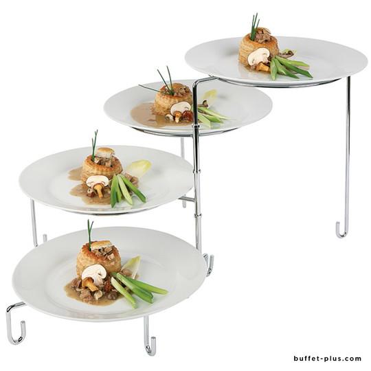 Modular display stand for plates