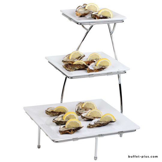 Serving stand for square plates