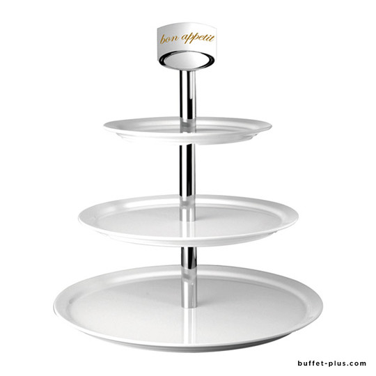 White melamine cake stand 2 or 3 tiers, Casual collection