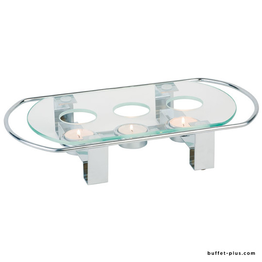 Plate warmer glass and metal