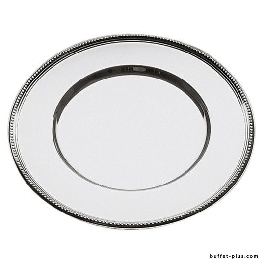Stainless steel plate tray with pearl edge