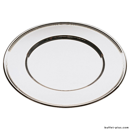 Stainless steel plate tray with line edge