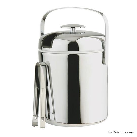 Ice bucket set with tong