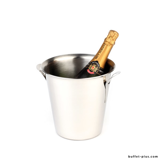 Stainless steel wine or champagne cooler, 2 massive handles