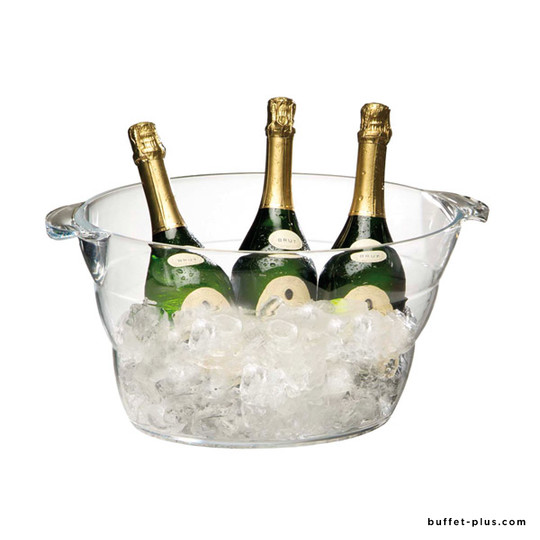 Clear large wine or Champagne bowl