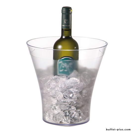 Clear wine or Champagne bowl, frosted body