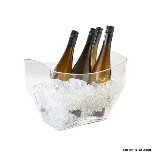 Clear wine or champagne bowl multi bottles