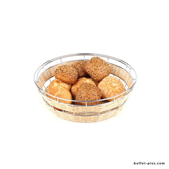 Round basket Economic collection with stainless steel frame for a cover
