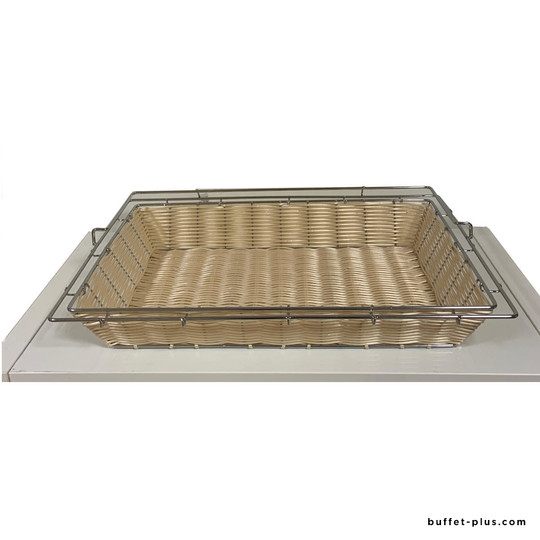 Basket Economic collection with stainless steel frame