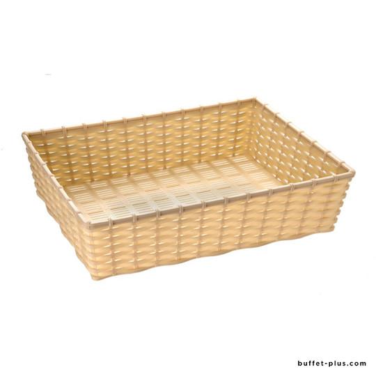 Rectangular bread or fruit basket Wicker Look collection