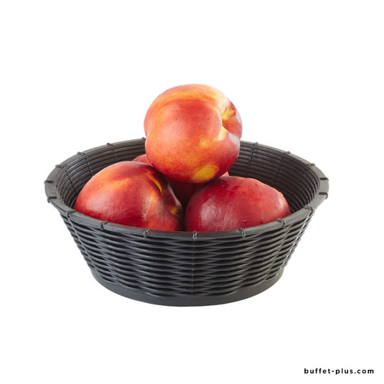Round bread or fruit basket Wicker Look collection