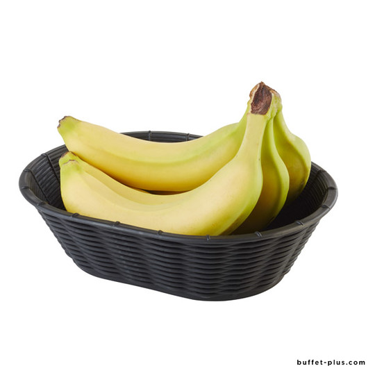 Oval bread or fruit basket Wicker Look collection