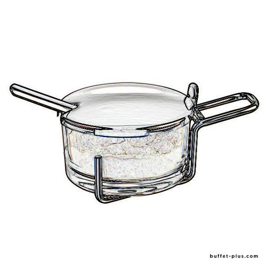 Glass bowl for parmesan set Classic, Profi and Pro
