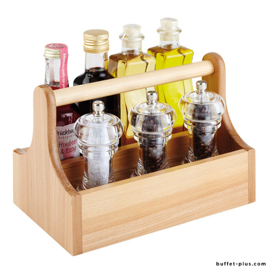 Table caddy two compartments