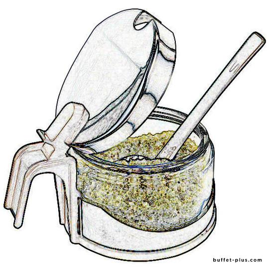 Glass bowl for parmesan set Economic
